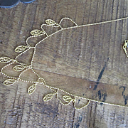 18K Yellow Gold Festoon Necklace
