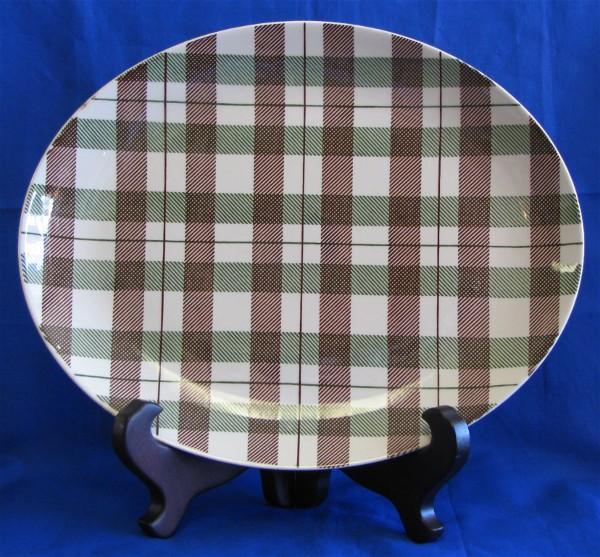 Retro Homer Laughlin Highland Plaid DuraPrint Platter