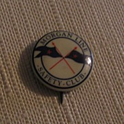 Morgan Line Safety Club Pinback Button -Made Dallas TX