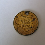 75th Anniversary Tropical Paint Cleveland OH Metal Tag