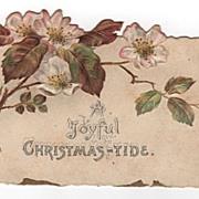 Joyful Christmas-Tide Die Cut Christmas Card