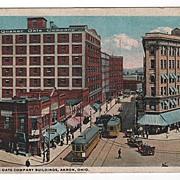 Quaker Oats Company Building Akron Ohio Postcard