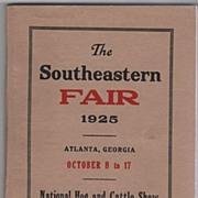 The Southeastern Fair October 8 to 17 1925 Atlanta GA