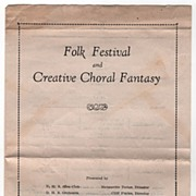 D. H. S. Program Folk Festival and Creative Choral Fantasy