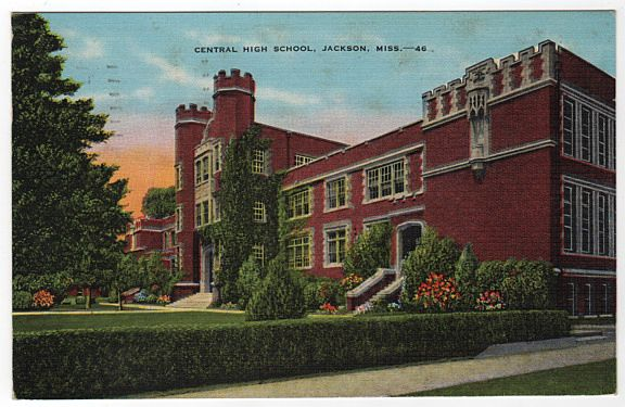 Central High School Jackson Mississippi MS Postcard