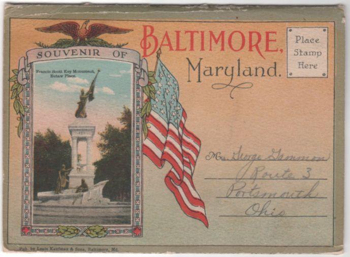 Souvenir Folder of Baltimore Maryland