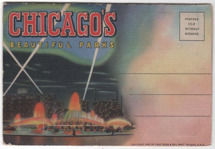 Souvenir Folder of Chicago's Beautiful Parks