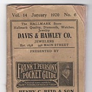 Frank T. Pearson's Pocket Guide 1920 Bridgeport Connecticut