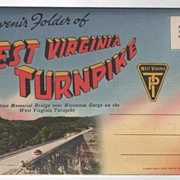 Souvenir Folder of the WV West Virginia Turnpike