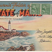 Souvenir Folder of the State of ME Maine