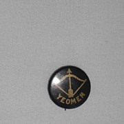Yeomen Bow and Arrow Vintage Pinback Button