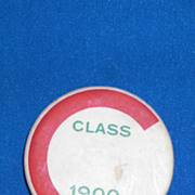 C Class of 1900 Vintage Pinback Button
