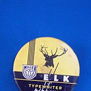 Miller Elk Yellow and Black Typewriter Ribbon Tin