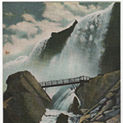 American Falls Rock of Ages Niagara Falls NY New York Postcard