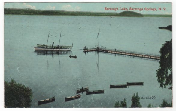Saratoga Lake Saratoga Springs NY New York Vintage Postcard