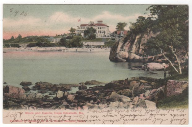 Shore and Casino Cape Elizabeth ME Maine Vintage Postcard
