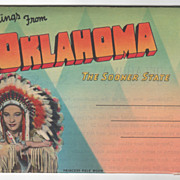 Vintage Souvenir Folder Greetings from Oklahoma OK
