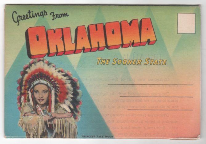 Vintage Souvenir Folder Greetings from Oklahoma OK