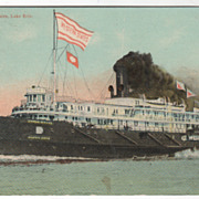 Steamer Western States Lake Erie Vintage Postcard