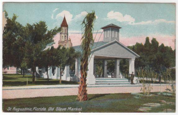 St Augustine FL Florida Old Slave Market Vintage Postcard