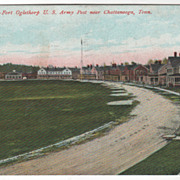Fort Oglethorpe U S Army Post near Chattanooga TN Tennessee Vintage Postcard
