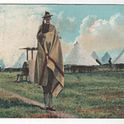 American Soldier on Guard Duty at Camp 1907 Vintage Postcard