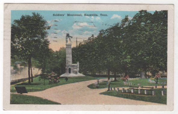 Soldiers' Monument Knoxville TN Tennessee Vintage Postcard