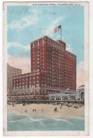 Ritz Carlton Hotel Atlantic City NJ New Jersey Vintage Postcard