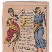 Original Japanese Soap L I Fisk & Co Springfield MA Victorian Trade Card