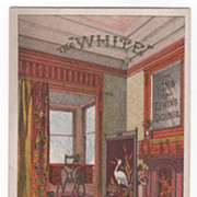 White Sewing Machine B L Spence Southbridge MA Victorian Trade Card - Red Tag Sale Item