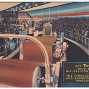 Interior of Firestone Factory 1939 New York World's Fair Vintage Postcard
