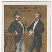 Fisk Clark and Flagg's Gloves Victorian Trade Card A