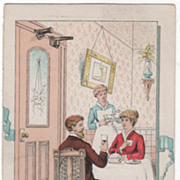 Eclipse Door Check and Spring Victorian Trade Card B