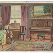 Estey Piano Co 159 Tremont St Boston MA Massachusetts Victorian Trade Card