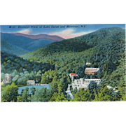 Birdseye View of Lake Susan and Montreat NC North Carolina Vintage Postcard