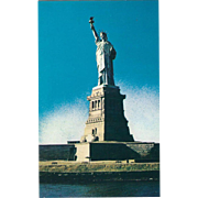 Statue of Liberty Liberty Island NYC NY New York Vintage Postcard