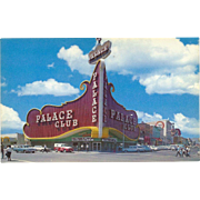 Palace Club Oldest Established Casino Reno NV Nevada Vintage Postcard