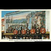 Western Panorama at Harold's Club Reno NV Nevada Vintage Postcard