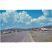 The Y of U S. Highways 85-87-64 Raton NM New Mexico Vintage Postcard