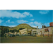 El Portal Hotel and Goat Hill Raton NM New Mexico Vintage Postcard