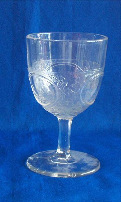 1870s EAPG Cape Cod Goblet Boston and Sandwich