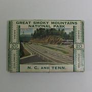 Miniature Souvenir Folder Great Smoky Mountains National Park - Red Tag Sale Item