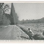 Demolition Squad Demonstrates Exploding of Land Mines Fort Belvoir VA Virginia
