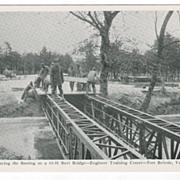 Laying the Floor on a 10-11 Steel Bridge - Fort Belvoir VA Virginia Postcard