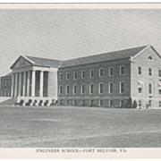 Engineer School - Fort Belvoir VA Virginia Postcard - Early Chrome