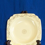 Homer Laughlin Century Rim Soup Bowl with Gold Garland Decoration
