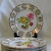 Set of Five P S Germany Dessert Plates