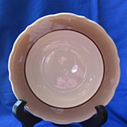 Syracuse China Brown and White Soup Bowl