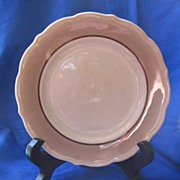 Syracuse China Brown and White Dinner Plate