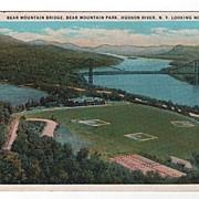 Bear Mtn. Bridge Hudson River New York Postcard